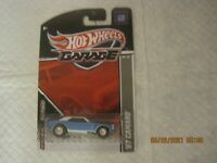 hot wheels garage 67 camaro blue w/real riders NIP