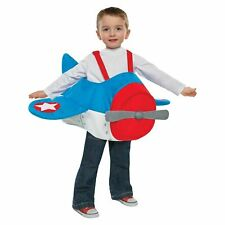 Kids Airplane Plane Halloween Costume With Adjustable Straps One Size Fits Most