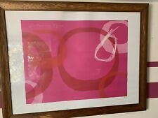 "HABITAT CONTEMPORARY ART  CLAIRE O'HEA ""PEAR 1"" PRINT ABSTRACT In Good Used Cond"