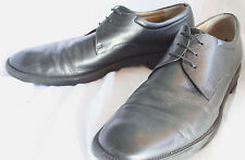 Salvatore Ferragamo Mens Black Leather Oxford Dress Shoes Size 11B Made in Italy