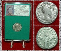 Roman Empire Coin LUCIUS VERUS Providentia On Reverse Silver Denarius