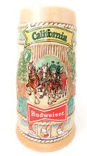 Anheuser Busch Budweiser ceramic beer stein California limited edition