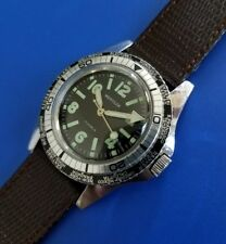 Exquisite Vintage Diver World Time Men's WESTCLOX Watch Hand Winding SERVICED!
