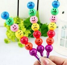Funny Stationery Pen 7 Smiling Colors Crayons Candied Fruits Pen ~1PC