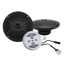Universal Mount Bluetooth Speaker & Amplifier System - Marine Grade Amp + Speak