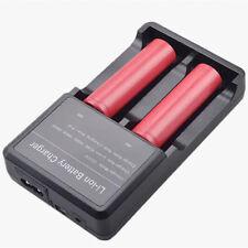 NEU intelligent multi Ladegerät Battery Charger für 2x 18650, 2x 26650 3.7V Akku