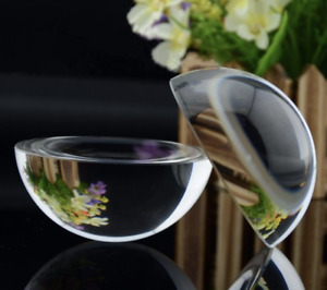 50mm Half Sphere Glass Crystal Paper Weight Clear Sphere Quartz Ball Magnifying