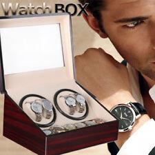 Automatic Watch Winder 2 2 Box Display Storage Case Organizer Wood With Drawer