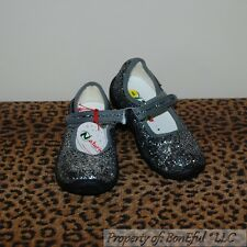 BonEful NEW Boutique GIRL 9 26 Euro Mary Jane Shoes Gray Black Glitter Naturino