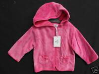 BNWT Super Soft Pretty Pink Girls Sz 2 Long Sleeve Hooded Jacket
