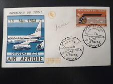 TCHAD AERIEN 10  PREMIER JOUR  FDC      DOUGLAS DC 8 , AIR AFRIQUE   50F    1963
