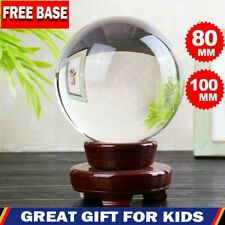 80~150mm Crystal Ball Clear Glass Photography Lens Healing Sphere Photo Prop US