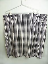Chic Stripe black white casual Corporate straight bandage pencil skirt 18