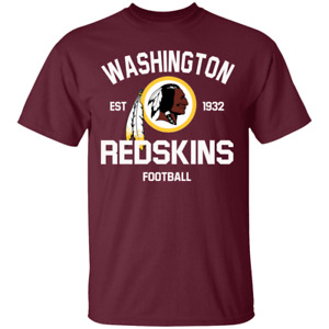 Men's Washington Redskins Football Est 1932 Maroon T-Shirt Size S-4XL