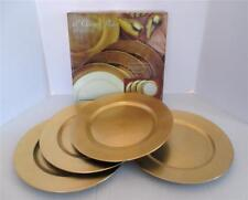 """Box of 4 Gold Lacquer 13"""" Charger Plates Decorative Round"""