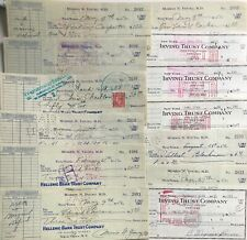 Unique Collection Of Over 60 Magic Autographs On Cancelled Checks -1952-1954