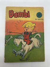 BAMBI #37 - 60s - Foreign Comic Book - DENNIS THE MENACE - MEGA RARE - 6.5 FN+