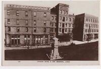 Laharna Hotel & War Memorial, Larne RP Postcard, B580