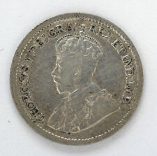 1919 Canada Silver 5 Cents George V Km22 - F #01271272g