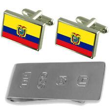 Ecuador Flag Cufflinks & James Bond Money Clip