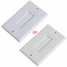 For Wires Wall Socket  White Single Brush Wall Plate Cable Pass Through Insert