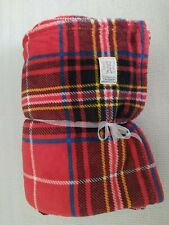 Ralph Lauren Fleece Tartan Plaid Throw Blanket  60x70