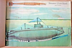 Buch, der Maschinenbau Modellatlas, R. Georg, Leipzig 1905, U-Boot    (Art.5262)