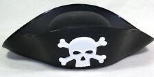 Vintage '80s PIRATE HAT Skull Crossbones Buccaneer Cosplay Costume Fancy Dress