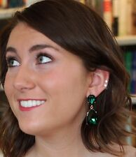 Kate Spade BLUE Seastone Sparkle Cluster Earrings SEMI PRECIOUS & green drops