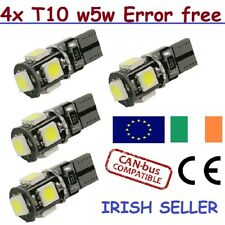 4 Pcs T10 Error Free W5W Canbus LED White Bulb Side Parking Light 6000K HID