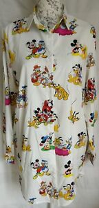 """WOMENS LOOSE FIT FUNKY MICKEY MOUSE LONG SHIRT BLOUSE NEW 1 SIZE BUST 45"""" 114CM"""