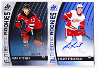 17-18 SP Game Used Evgeny Svechnikov Auto Rookie BLUE Red Wings 2017