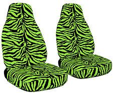 Universal Velvet Zebra Car Seat Covers 9 Color Options