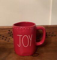 "NEW Rae Dunn Holiday Christmas LL ""Joy""  Stitched Red Mug By Magenta"