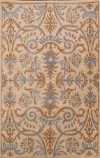 Floral Traditional BEIGE Oriental Area Rug Hand-tufted Home Decor 5'x8' Carpet