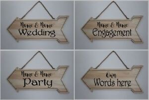 Personalised direction Sign, Engagement, Wedding, Party, Own Words sticker set
