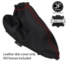 RED STITCHING FOR JAGUAR X TYPE 2001-2009 LEATHER HANDBRAKE GAITER COVER