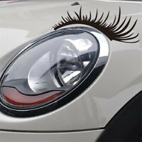2Pc Eyelashes Light Eyebrow Car Stickers Body Sticker Decal Motorcycle Sticker w