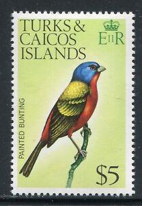 Turks & Caicos 1976 Vogel $5 Freimarke Bird Oiseaux Uccello 363 Postfrisch MNH