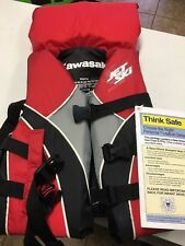 "Nos Kawasaki Youth Type Ii Life Vest Red 25""-29"" 50-90lbs"
