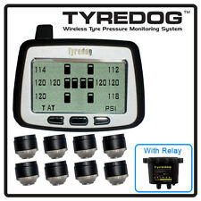 TYREDOG 8 WHEEL TYRE PRESSURE & TEMPERATURE MONITOR HEAVY DUTY TD-2000A-X08 TPMS