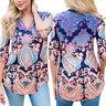 Womens V-neck Cold Shoulder Tops Loose Long Sleeve T-Shirt Casual Blouse Vogue