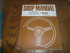 1978 Honda Civic 1200 Shop Manual - OEM Manual