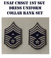 USAF CHIEF MASTER FIRST SERGEANT ENAMELED DRESS RANK CMSgt US AIR FORCE NEW SET