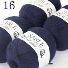 AIP Super Soft Pure Sable Cashmere Wrap Shawls Hand Knit Wool Crochet 50grx4 16