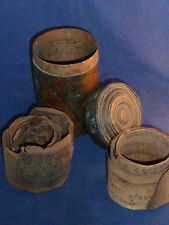 Rare Antique Buddhist Prayer Box and Scrolled Prayers