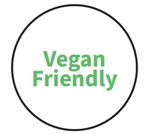 """Vegan Friendly"" Food Allergy Labels - Green - 19mm (117 per sheet)"