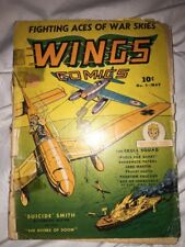 Wings Comics #9 1941 Suicide Smith And The Skull Squad