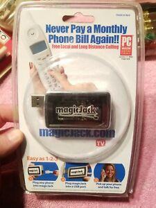 Magic Jack Plus Free local long distance telephone USB Home Phone NEW SEALED