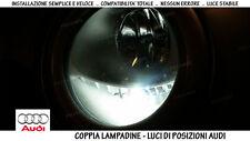 """COPPIA 2 LAMPADINE LED BIANCO GHIACCIO POSIZIONI """"AUDI A3 - (8L)"""" (1996-2003)"""